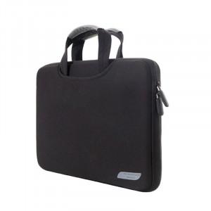 Sac à main portatif portable à air comprimé de 15,4 pouces pour MacBook Air / Pro, Lenovo et autres ordinateurs portables, taille: 38x27,5x3,5 cm (noir) SS513B-20