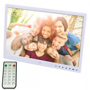 Cadre photo numérique numérique 15,0 pouces avec support / télécommande, Allwinner, support USB / carte SD entrée / OTG (blanc) SC340W0-20