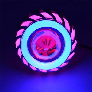 Moto 12V LED Phare Intégré Haute Puissance Flash Tête Lampe Refit Assembly Rose Bleu CM12211883-20