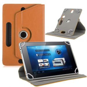 7/8/9/10 Etui de protection pour tablette en cuir universel à 360 degrés pivotant en cuir, brun_10 pouces CTMCS10306-20