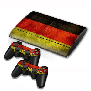 Autocollants en autocollant de drapeau en Allemagne pour console de jeux PS3 SA002D-20