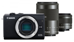 Canon EOS M200 Kit noir + EF-M 15-45 + 55-200 IS STM 495504-20