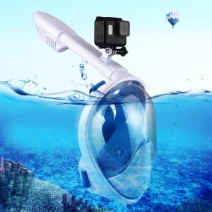 PULUZ 260mm Tube Water Sports Équipement de plongée Masque Snorkel complet pour GoPro HERO5 / 4/3 + / 3/2/1, taille S / M (Bleu) SP204L1-20