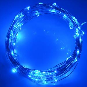 10m 5V USB Alimenté 6W 500LM SMD-0603 LED Lampe à cordes en argent Light Lamp / Décoration Light Strip, Blue Light S1000L3-20