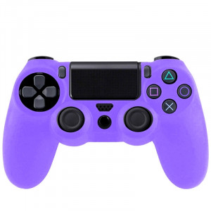 Étui flexible en silicone pour Sony PS4 Game Controller (Purple) S0001P-20