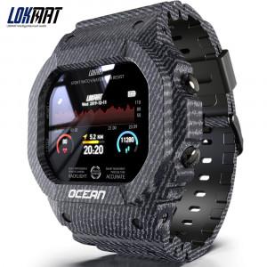Océan Montre Intelligente Hommes Femmes Fitness Tracker Message de Pression Artérielle Push Moniteur de Fréquence Cardiaque Horloge Smartwatch Bleu C49204IRL7465-20