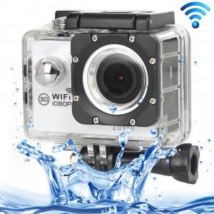 H16 1080P Caméra sport portable sans fil WiFi, écran 2,0 pouces, Generalplus 4248, 170 A + degrés Grand angle, carte TF de soutien (blanc) SH243W8-20