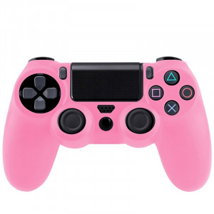Étui flexible en silicone pour Sony PS4 Game Controller (rose) S0001F-20
