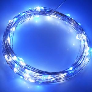 10m 5V USB Powered 6W 500LM SMD-0603 LED Lampe à cordes en argent Lampadaire / Décoration Light Strip, Blue White Light S101LW6-20