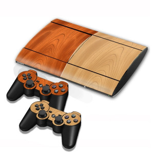 Autocollants pour autocollants en bois pour console de jeux PS3 SA001G-20