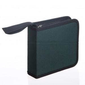 40pcs cd dvd disques sacs à main oxford sacs à haute capacité de stockage sac avec fermeture à glissière comprimés green_40 C1109-20