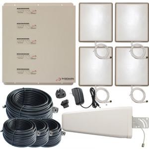 Stella Doradus Booster / répéteur 5 Bandes GSM 2G, 3G et 4G 800 / 900 / 1800 / 2100 / 2600 Mhz 4000m² SD-RP1002-LGDWH-4P-20