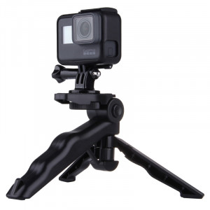 PULUZ Grip Trépied pliable avec adaptateur et vis pour GoPro HERO5 / 4/3 + / 3/2/1, SJ4000, Appareil photo numérique, charge maxi: 2kg (noir) SPU1913-20