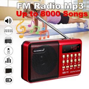 K11 FM Rechargeable Mini Portable Radio Portable Numérique FM USB TF Lecteur MP3 Haut-Parleur Noir red_K11 C0FAYR15802-20