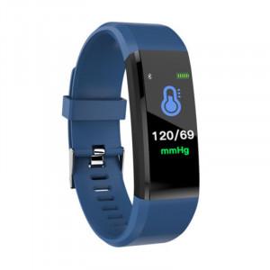 Bracelet de traqueur de forme physique de moniteur de tension artérielle de fréquence cardiaque de montre intelligente de Bluetooth 115plus, bleu C27601870-20