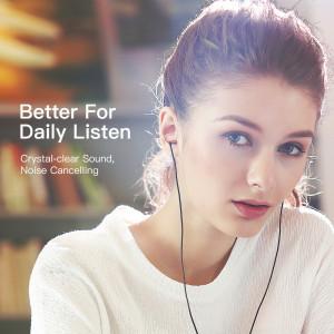 GGMM Mode Métal Écouteurs In-Ear Stéréo Annulation de Bruit Casque Doré CG89871382-20