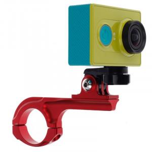 Support de guidon de vélo avec support de connecteur pour caméra sport Xiaomi Yi (rouge) SS401R8-20