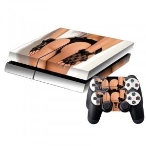Sexy Lady Pattern Peau de protection autocollant Peau Sticker pour PS4 Game Console SS786L-20