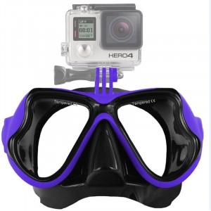 Équipement de plongée sous-marine Masque de plongée Lunettes de natation pour GoPro HERO4 / 3 + / 3/2/1 (Bleu) S1235L-20