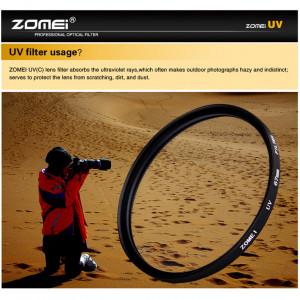 Protecteur d'objectif de filtre UV Ultra-Violet ZOMEI pour appareil photo Reflex DSLR 62mm C0J7QL7629-20