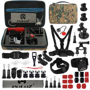 PULUZ 45 en 1 Accessoires Ultimate Combo Kit avec camouflage EVA Case pour GoPro HERO4 Session /4 /3+ /3 /2 /1 SPKT297-20
