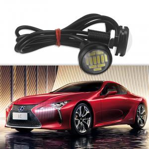 2 PCS Eagle Eye LED 4014 12SMD 23MM DRL jour courante étanche Water Light Motor voiture lampe C275771506-20