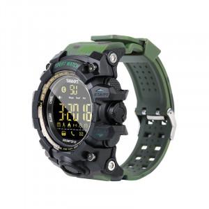 EX16S imperméable à l'eau de sport montre intelligente podomètre Bluetooth hommes montre-bracelet vert C10371838-20
