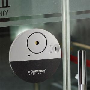 Alarme de capteur de vibration ronde de porte de fenêtre de conception ultra-mince de sécurité 100DB gris C1558142C1471-20