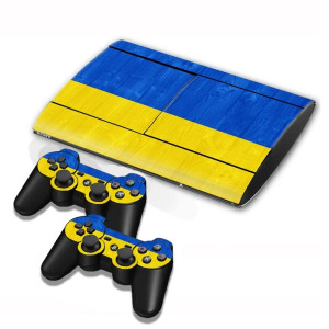 Autocollants en autocollant de drapeau de drapeau ukrainien pour console de jeux PS3 SA002M-20