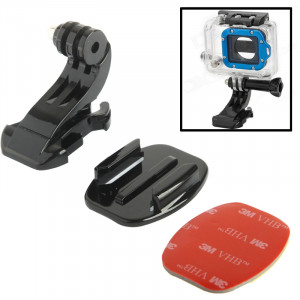 ST-57 J-Hook Buckle Mount + 3M Sticker + Flat Surface pour GoPro HERO4 / 3+ / 3/2/1 SS00149-20