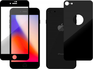 Novodio Total Armor 9H Glass Noir Vitres protection avant/arrière iPhone 8 IP8NVO0007-20