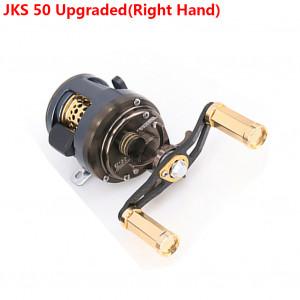 DEUKIO 11 + 1 roulements profil rond moulinet Baitcast moulinet moulage leurre léger pour la pêche à la truite de ruisseau main gauche / droite en option surclassement JKS 50 (main droite) C0M9RP1716-20