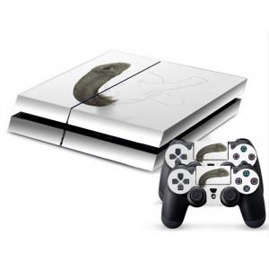 Autocollant de peau de couverture autocollant en peau de protection en forme de dinosaure en 3D pour console de jeux PS4 SA340C-20