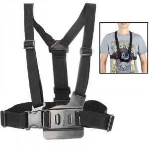 Ajustement Ceinture en cuir élastique pour ceinture pour GoPro HERO4 / 3/2 (Noir) SA01237-20