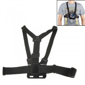 Extreme Sport Front Chest Elastic Belt Shoulder Strap Mount Holder pour appareil photo pour GoPro HERO3 + / 3/2/1 (Noir) SE01217-20