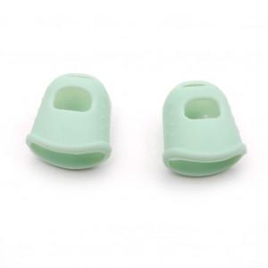 1 paire Kalimba Guitare Doigts de pouce pour doigts Protecteur Gel de silice Doigts de doigts Doigt Protection des ongles Couvercle vert C0M7EM6616-20