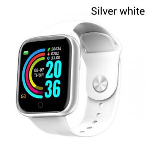 Y68 Montre Smart Watch Étanche Bluetooth Sport SmartWatch Support pour iPhone Xiaomi Fitness Tracker Moniteur de Fréquence Cardiaque Intégré 150mAh Batterie USB Charge Argent Blanc C0184S1V511837-20