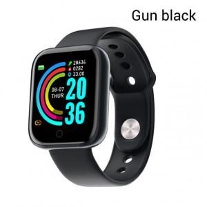Y68 Montre Smart Watch Étanche Bluetooth Sport SmartWatch Support pour iPhone Xiaomi Fitness Tracker Moniteur de Fréquence Cardiaque Intégré 150mAh Batterie USB Chargeur Pistolet noir C0191OT6Q7080-20