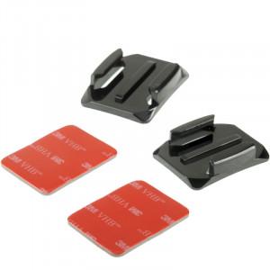 2 x surface courbe + 2 x 3M VHB Adhésif collant pour GoPro HERO4 / 3+ / 3/2/1 S200481-20