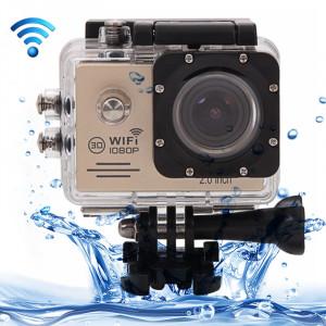 SJ7000 Full HD 1080P Ecran LCD 2.0 pouces Novatek 96655 Caméra caméscope sport WiFi avec étui étanche, objectif grand angle HD de 170 degrés, 30m étanche (or) SS123J2-20
