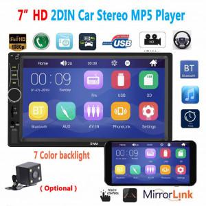 A7 2 Din 7 pouces Autoradio Autoradio Universel Voiture Multimédia Lecteur MP5 HD Bluetooth Lecteur Flash Usb Interconnexion Téléphone Lecteur MP3 Radio Sans Caméra C0O6ZY3570-20