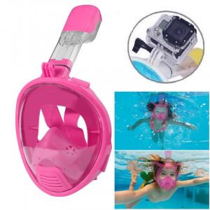 Équipement de plongée pour enfants Full Face Design Masque de plongée pour GoPro HERO4 / 3 + / 3/2/1 (Rose) S0321F-20