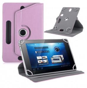 Étui de protection universel pour tablette en cuir à quatre crochets rotatif à 360 degrés 7/8/9/10 pouces Pink_9 pouces C2063RHS37521-20