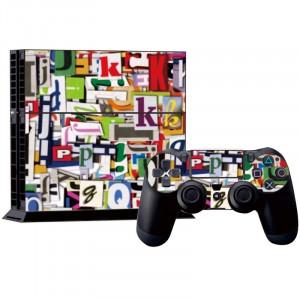 Autocollants en carton pour étiquettes autocollantes pour console de jeux PS4 SA016H-20