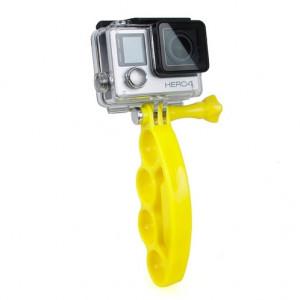 TMC Knuckles Fingers Grip avec vis pouce pour GoPro Hero 4 / 3+ / 3/2 (Jaune) ST437Y5-20