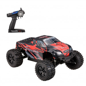 ZD Racing 9106-S 1/10 Tonnerre 2.4G 4WD Brushless 70KM / h Voiture de course RC Monster Truck RTR Jouets Rouge + noir C08YAS3396-20
