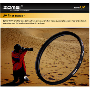 Protecteur d'objectif pour filtre UV ZOMEI Ultra-Violet pour appareils photo Reflex DSLR 49mm C06HTC1539-20