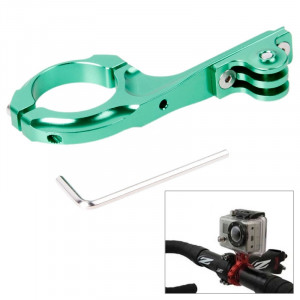 TMC Bike Aluminium Handle Bar Adapter Pro Mount pour GoPro Hero 4 / 3+ / 3/2/1 (Vert) ST617G2-20