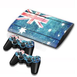 Autocollants en autocollant de drapeau de drapeau australien pour console de jeux PS3 SA002K-20
