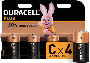 Duracell Plus Lot de 4 piles alcalines Type C 1,5 Volts LR14 MX1400 MN1400-20
